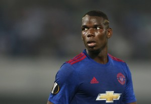 Football Soccer - Feyenoord v Manchester United - UEFA Europa League Group Stage - Group A - De Kuip Stadium, Rotterdam, Netherlands - 15/9/16 Manchester United's Paul Pogba  Action Images via Reuters / Matthew Childs Livepic EDITORIAL USE ONLY.@@2016-09-15T184745Z_116966865_MT1ACI14611264_RTRMADP_3_SOCCER-EUROPA-FND-MNU.JPG