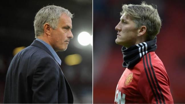 Mourinho in Schweinsteiger že od začetka sodelovanja nista bila na isti valovni dolžini. Vir: en.as.com