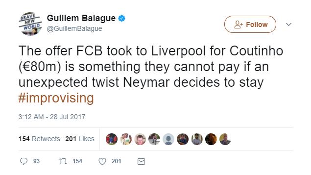 Le eden v seriji današnjih tvitov Balagueja. Ostale najdete na povezavi - https://twitter.com/GuillemBalague