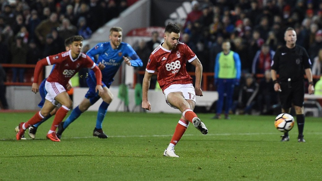 Pri zmagi Nottinghami je blestel 18-letni Bereton, ki je uspešno izvedel prvo enajstmetrovko na tekmi. Vir: Nottingham Forest