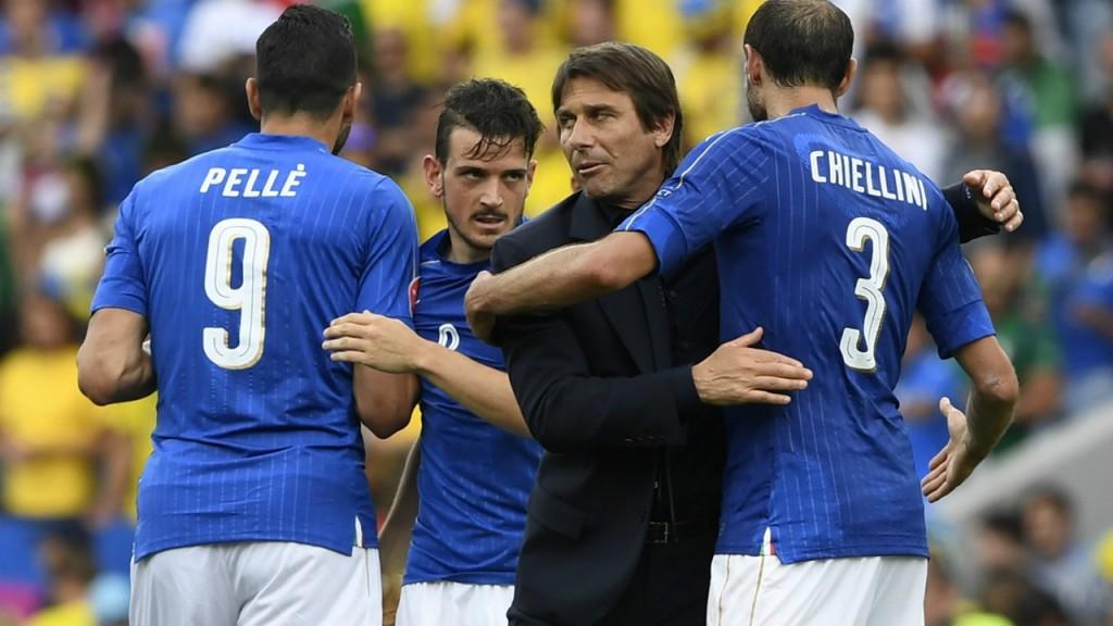Chiellini in Conte se poznata iz skupnega časa pri Juventusu in italijanski reprezentanci. Vir: Goal.com