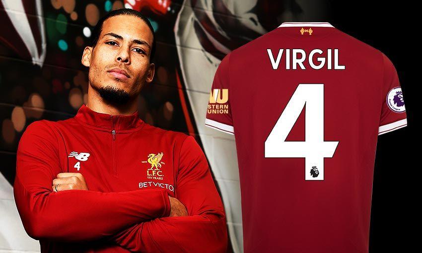 Van Dijk je takole poziral v barvah svojega novega kluba. Vir: Liverpool FC