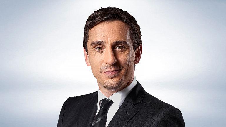 """Gary Neville se je po izjemni nogometni karieri odločil za službo """"pundita"""" pri Sky Sportsu. Vir: Sky Sports"""