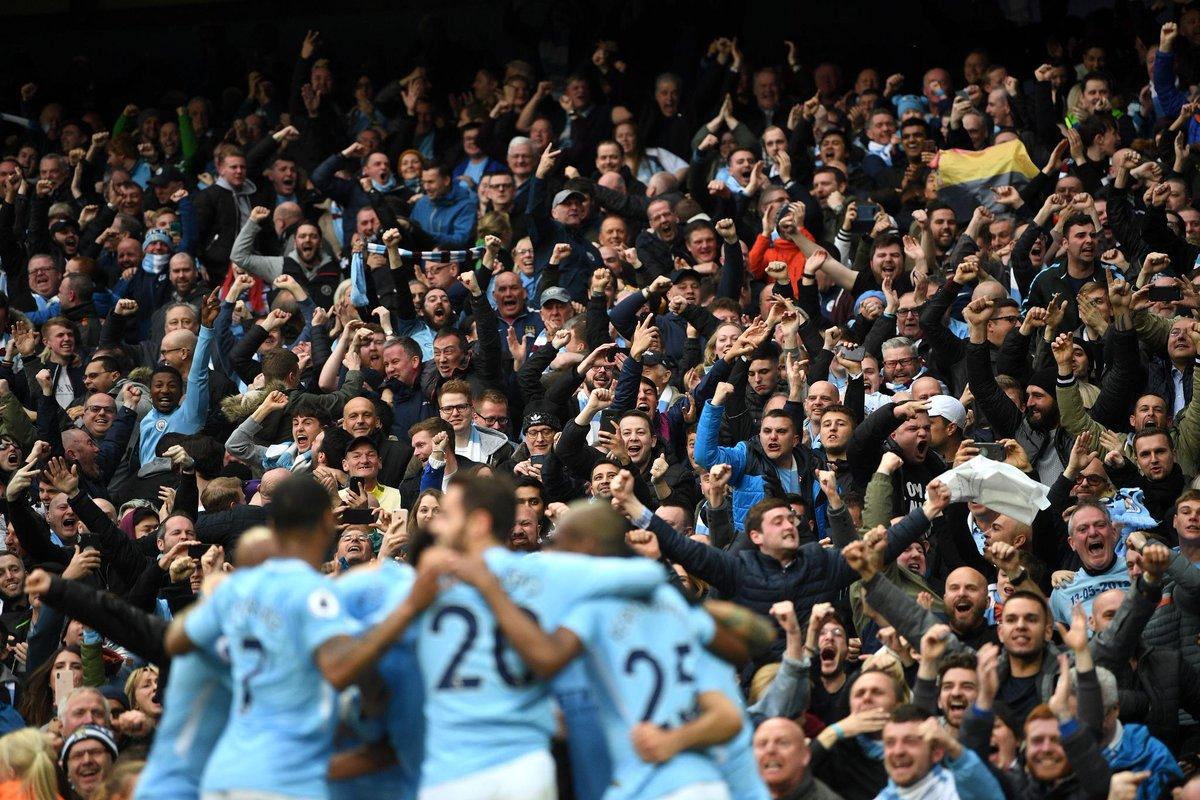 Navijači Cityja bodo morali na novo prvenstveno zvezdico počakati vsaj še en krog. Vir: Premier League