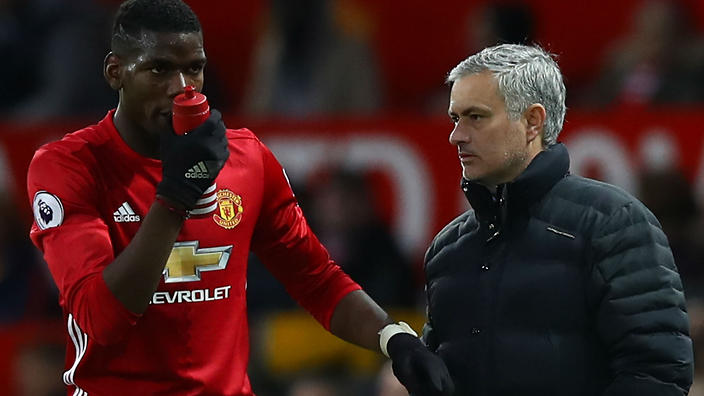 Mourinho počasi izgublja potrpljenje. Bo Francoz v seoni 2018 / 2019 še nosil dres Uniteda? Vir: Goal.com