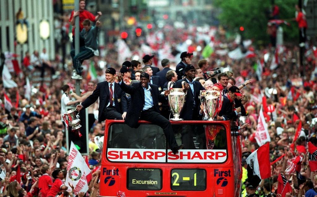 20 let bo kmalu minilo od legendarnega Unitedovega trojčka iz sezone 1998 / 1999. Vir: BBC