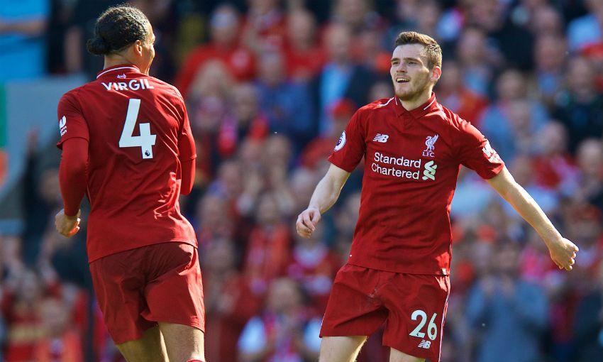 """Van Dijk in Robertson spadata v """"premium"""" cenovni razred, a obstaja velika verjetnost, da bosta svoji ceni upravičila. Foto: LiverpoolFC"""