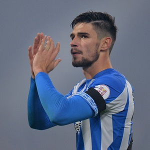 "Soccer Football - Premier League - Huddersfield Town v Fulham - John Smith's Stadium, Huddersfield, Britain - November 5, 2018   Huddersfield Town's Christopher Schindler applauds their fans after the match    REUTERS/Peter Powell    EDITORIAL USE ONLY. No use with unauthorized audio, video, data, fixture lists, club/league logos or ""live"" services. Online in-match use limited to 75 images, no video emulation. No use in betting, games or single club/league/player publications.  Please contact your account representative for further details."
